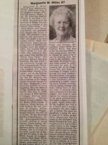 Her obituary in 2006.