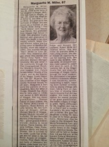 Her obituary in 2006.
