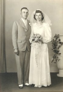 My mom and dad's wedding picture.