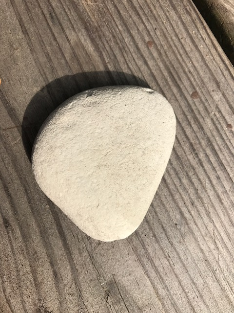 smooth white stone
