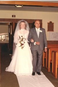 Myrna and Dad at wedding